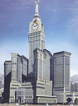"""أطول ساعة في العالم تعلن انطلاق """"توقيت مكة المكرمة"""" Makka_Time"""